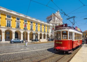 Tram, Train, Voyage, Lisbonne, Portugal, L'Architecture