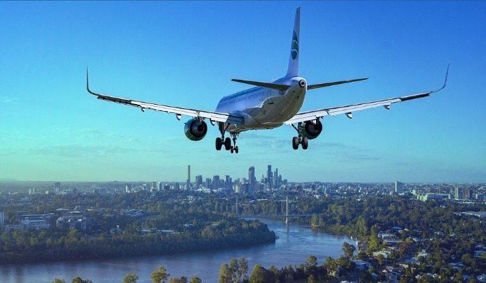 Avion, Vol, Ville, D'Atterrissage, Rivière, Boeing