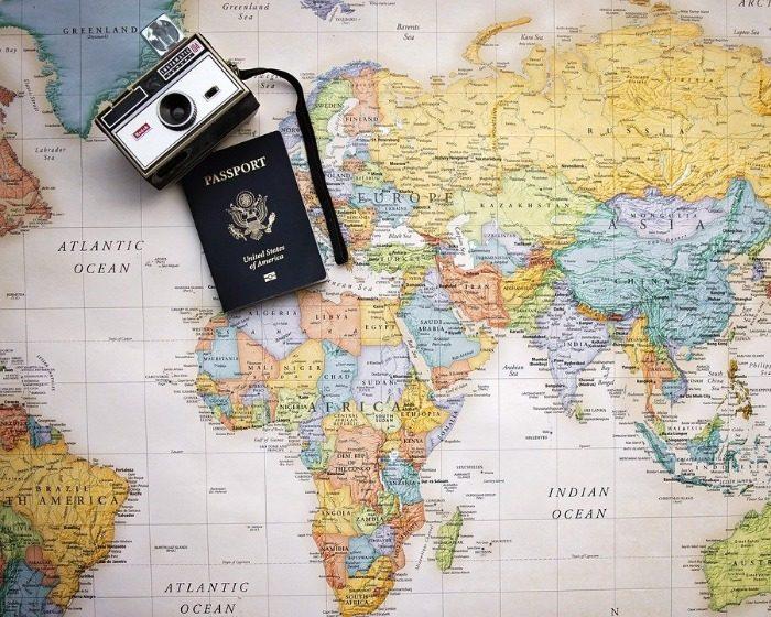 Passeport, Carte, Monde, Voyage, Le Tourisme
